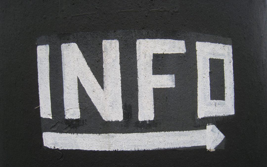 Info arrow signage
