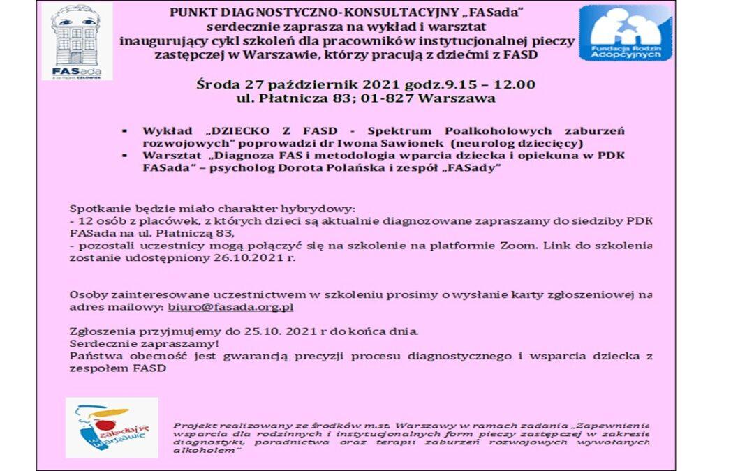 Zaproszenie na warsztaty dla pracowników placówek opiekuńczych
